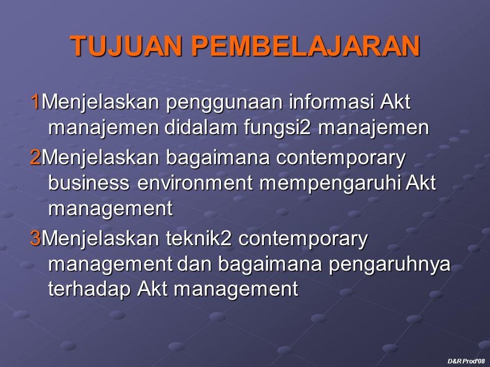 TUJUAN PEMBELAJARAN 1Menjelaskan penggunaan informasi Akt manajemen didalam fungsi2 manajemen 2Menjelaskan bagaimana contemporary business environment