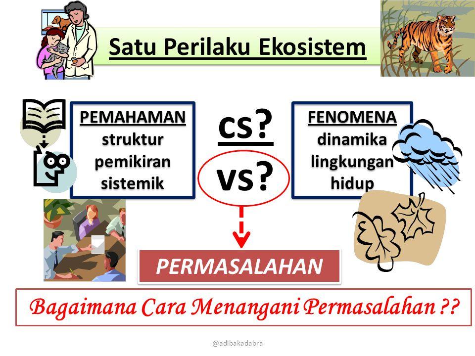 @adibakadabra PEMAHAMAN struktur pemikiran sistemik PEMAHAMAN struktur pemikiran sistemik FENOMENA dinamika lingkungan hidup Satu Perilaku Ekosistem c