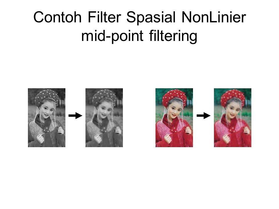 Contoh Filter Spasial NonLinier median filtering