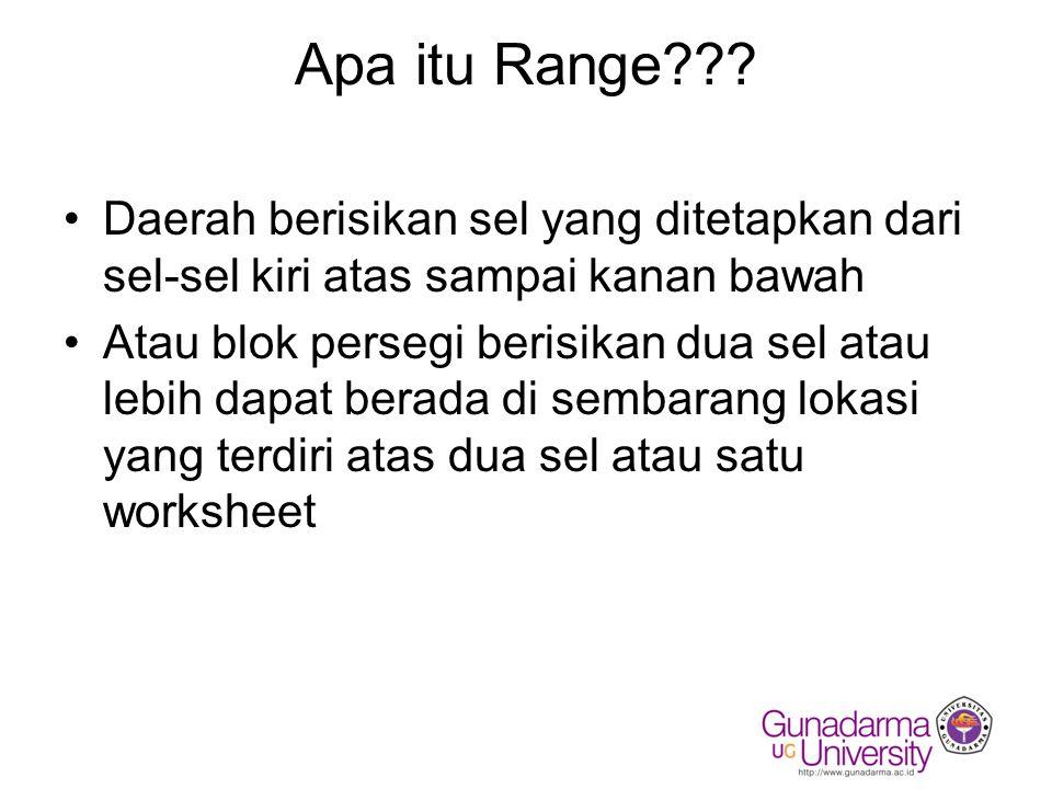 Contoh Tampilan Range (yang disorot)