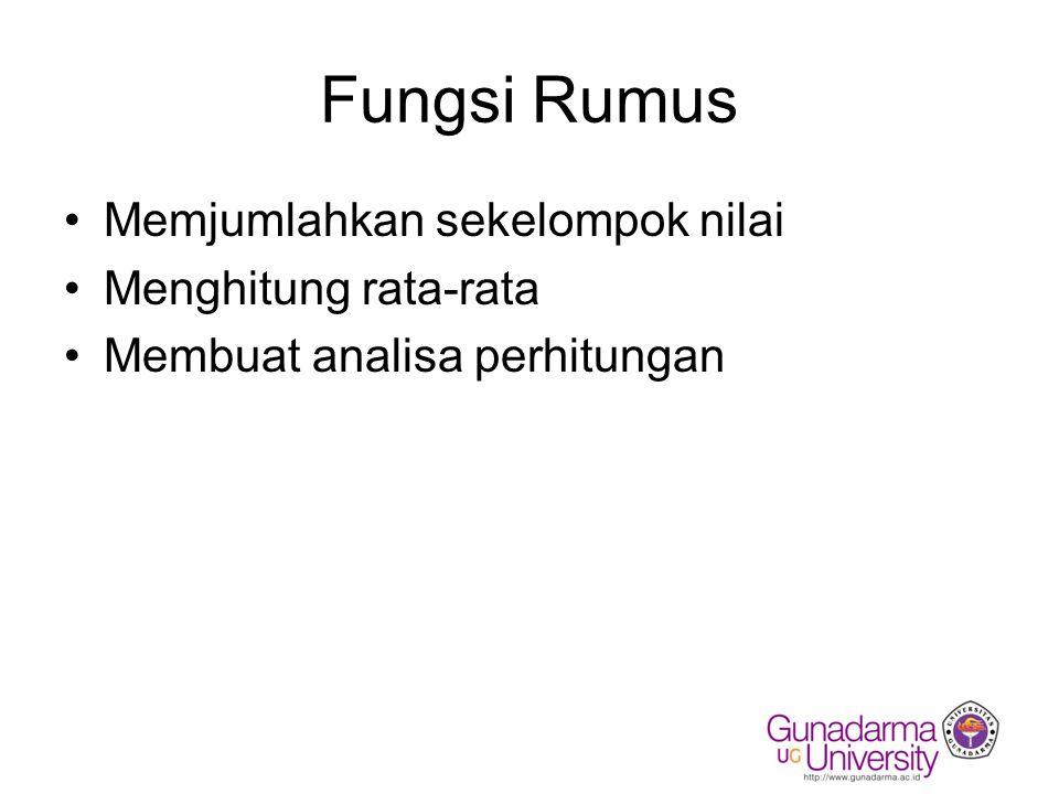 Memasukkan Rumus??.