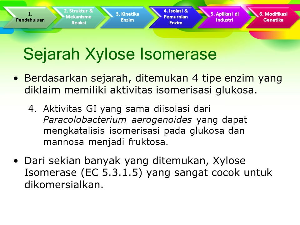Kinetika Xylose Isomerase Dilakukan pengamatan terhadap pembentukan D- fruktosa sebagai fungsi waktu inkubasi dengan konsentrasi D-glukosa awal.