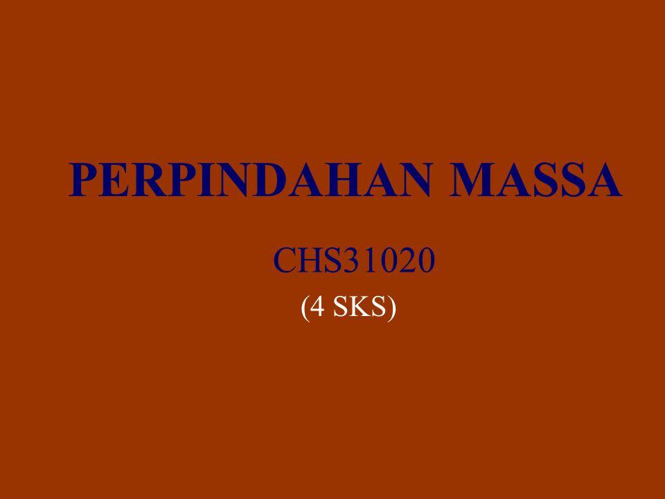PERPINDAHAN MASSA CHS31020 (4 SKS)