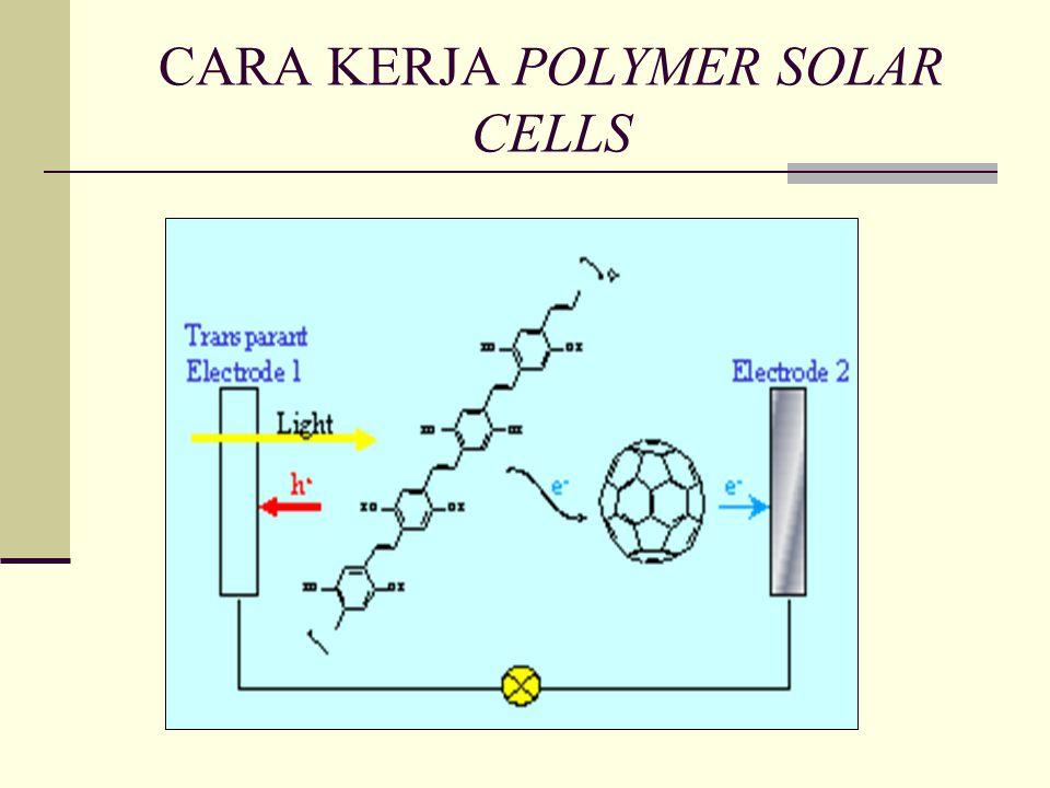 CARA KERJA POLYMER SOLAR CELLS