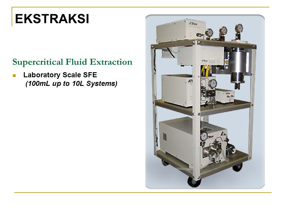 Supercritical Fluid Extraction Laboratory Scale SFE (100mL up to 10L Systems) EKSTRAKSI
