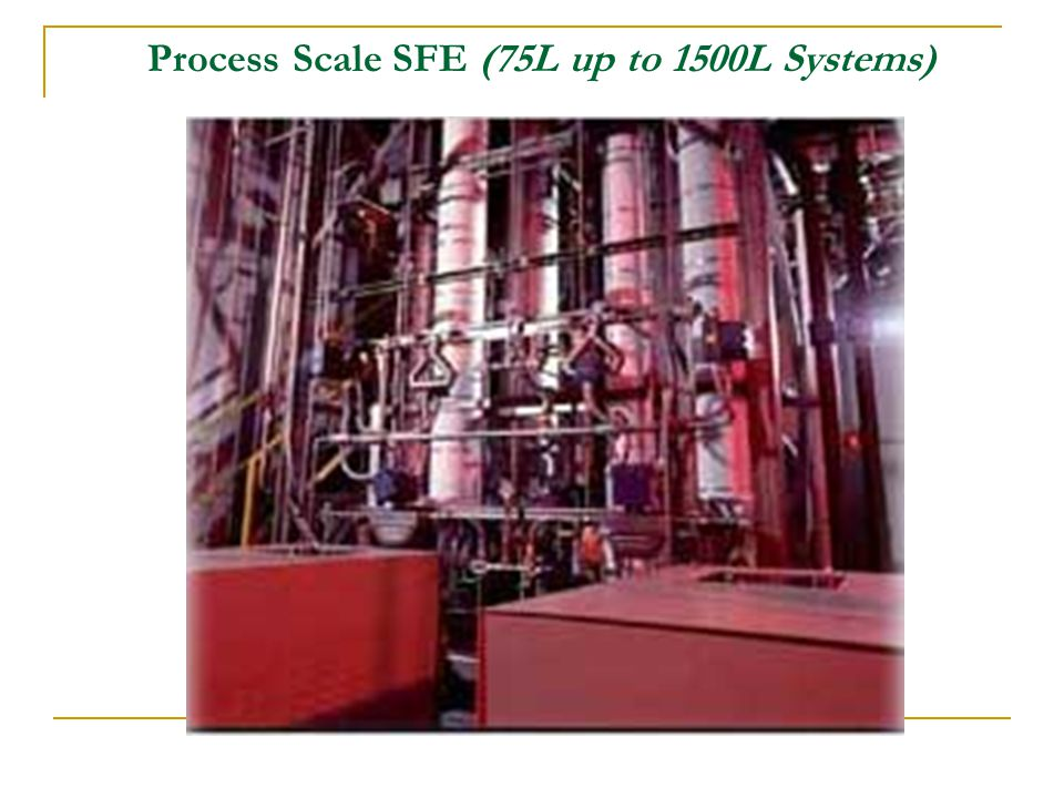 Process Scale SFE (75L up to 1500L Systems)