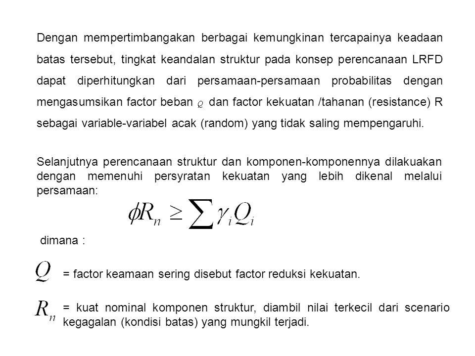 dimana : = gaya aksial terfaktor pada kolom = beban kritis elastis kolom yang dihitung dengan factor panjang tekuk,, dan kelangsingan dalam arah lenturnya.