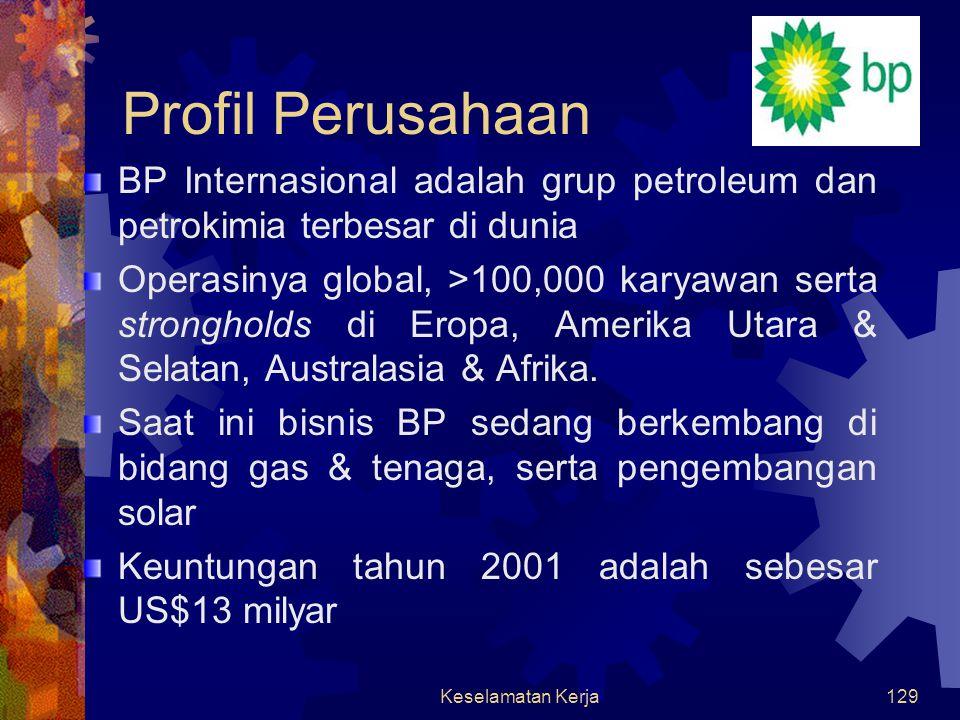 Keselamatan Kerja128 KESELAMATAN KERJA British Petroleum Indonesia