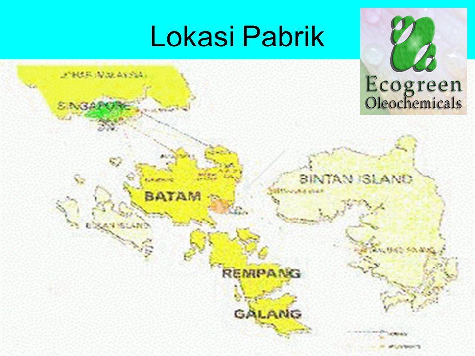 Keselamatan Kerja184 Lokasi Pabrik PT Ecogreen Oleochemicals berlokasi di Kabil, Pulau Batam, Propinsi Riau, Indonesia, sekitar 20 km sebelah tenggara Singapura.