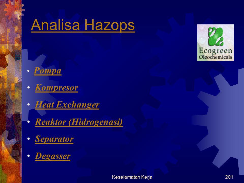 Keselamatan Kerja200 Analisa HAZID (lanjutan)