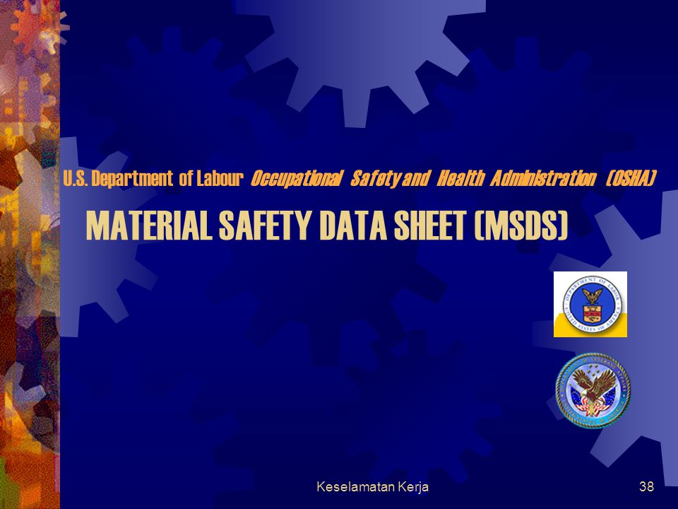 Keselamatan Kerja37 Explosive Materials  Materials in the form of compound or mixture of compound which suddenly undergoes a very rapid chemical tran