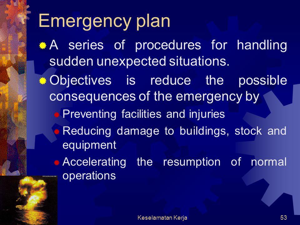 Keselamatan Kerja52 EMERGENCY PLANNING