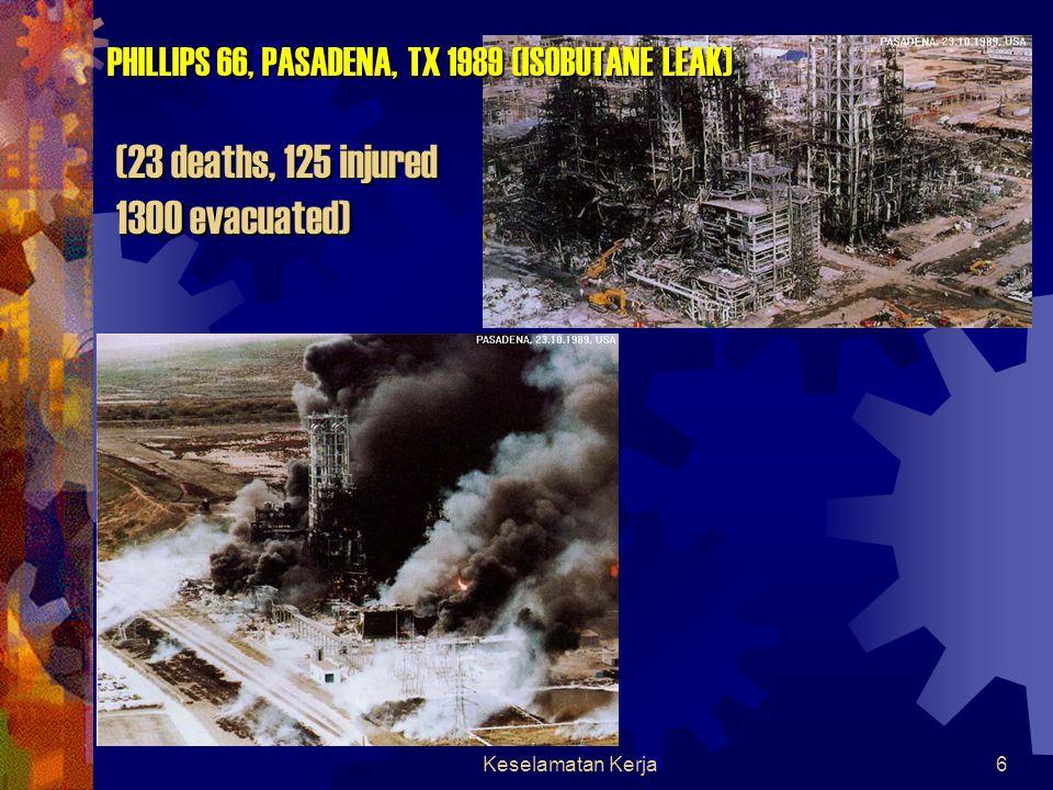 Keselamatan Kerja6 PHILLIPS 66, PASADENA, TX 1989 (ISOBUTANE LEAK) (23 deaths, 125 injured 1300 evacuated)
