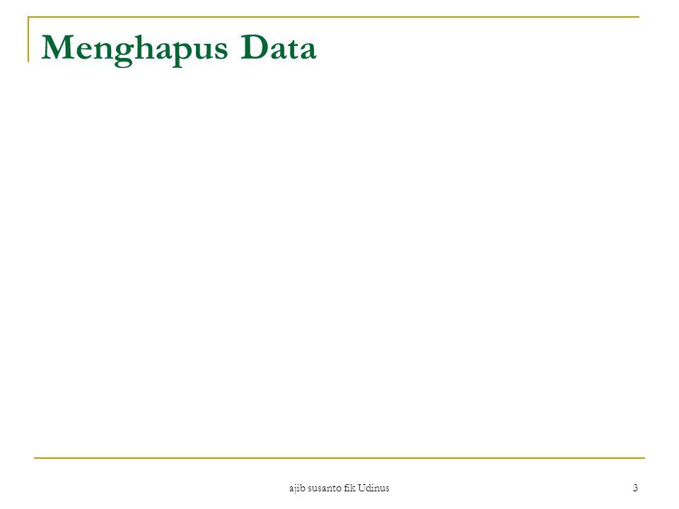 ajib susanto fik Udinus 4 SQLite #2 Perbedaan utama SQLite dengan database SQL lainnya adalah dalam penulisan data.
