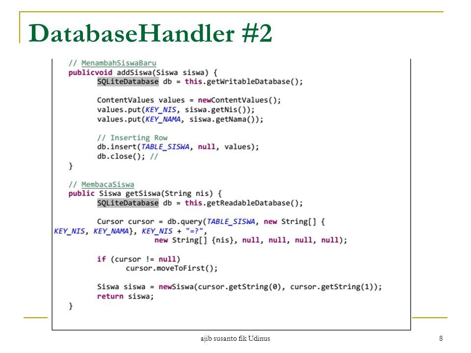 8 DatabaseHandler #2