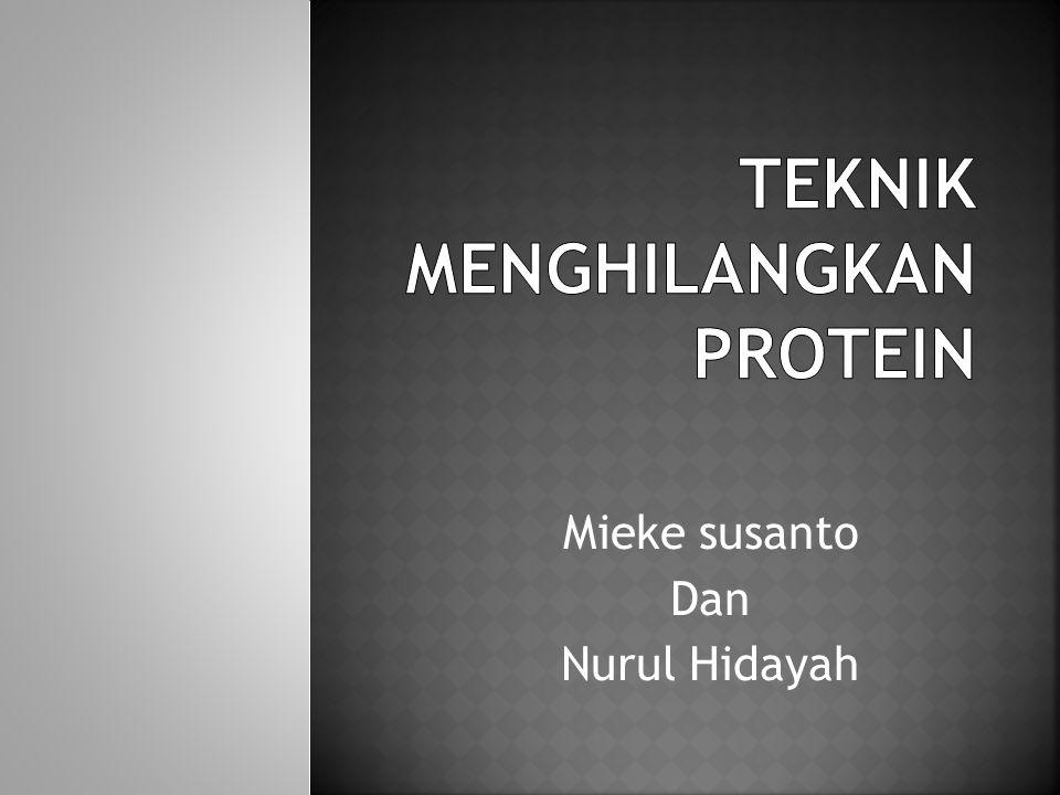Pengaturan pH Penambahan garam (NH4)2SO 4 Dialisis