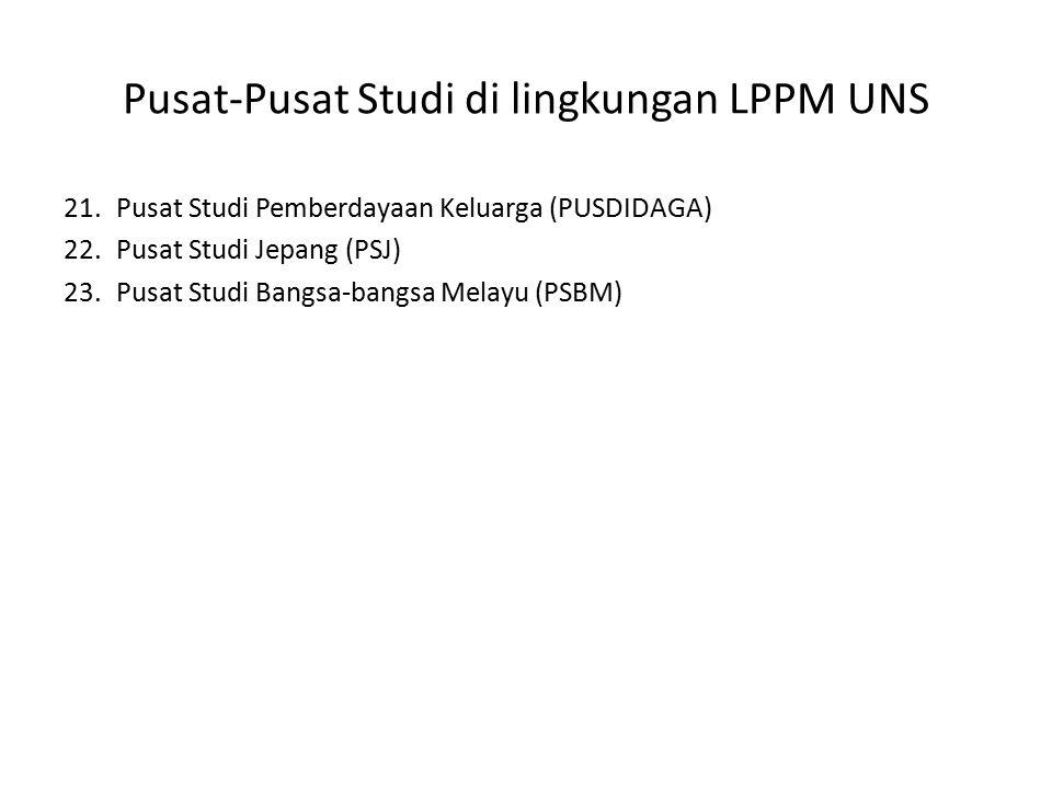 Unit – unit dalam LPPM UNS Unit Layanan dan Pengelolaan Hak Kekayaan Intelektual (ULP.