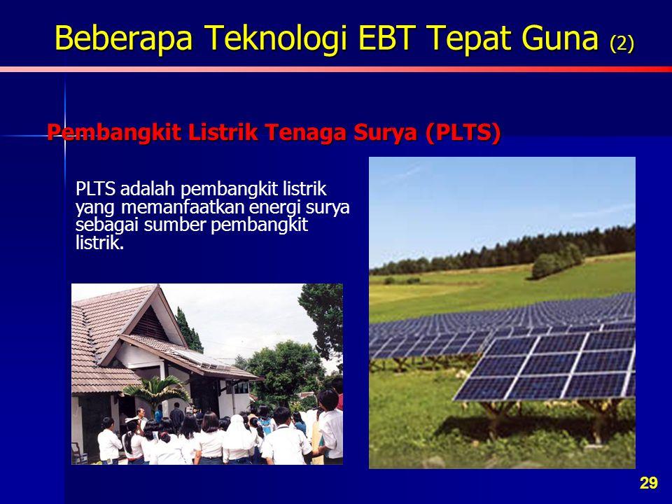 Beberapa Teknologi EBT Tepat Guna (2) Pengering Tenaga Surya Teknologi sederhana yang memanfaatkan sinar matahari untuk mengeringkan hasil pertanian d