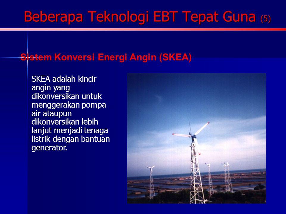 Beberapa Teknologi EBT Tepat Guna (5) Biogas Biogas/Gasbio adalah gas yang dihasilkan dari suatu konversi bio-kimia limbah biomassa melalui fermentasi