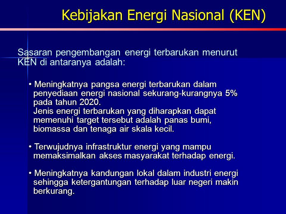 Kebijakan Energi Hijau Kebijakan Pengembangan Energi Terbarukan dan Konservasi Energi (Keputusan Menteri Energi dan Sumber Daya Mineral Nomor 002 tahu