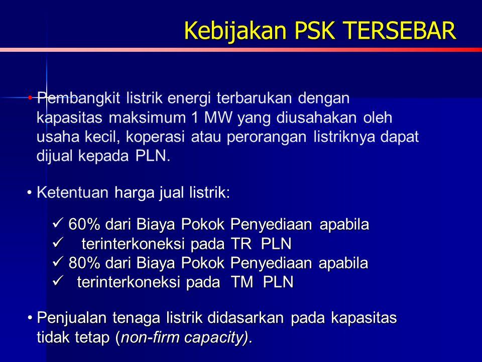 Kebijakan Energi Nasional (KEN) Sasaran pengembangan energi terbarukan menurut KEN di antaranya adalah: Meningkatnya pangsa energi terbarukan dalamMen