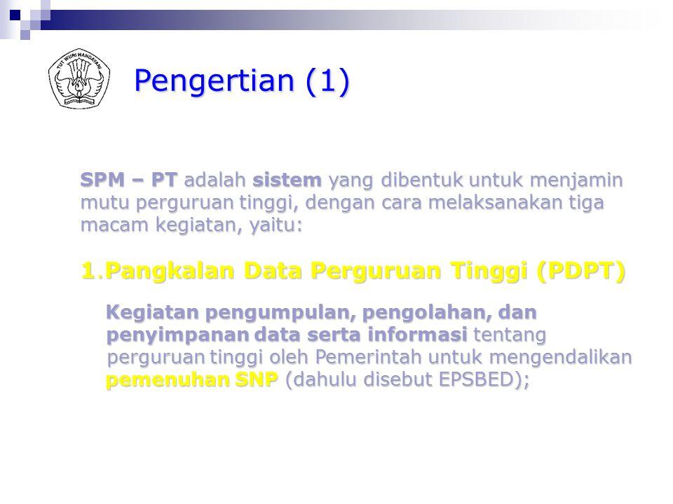 Prinsip Penyusunan Kebijakan Nasional SPM-PT Keberadaan dan karakter masing-masing dari ketigaKeberadaan dan karakter masing-masing dari ketiga kegiat