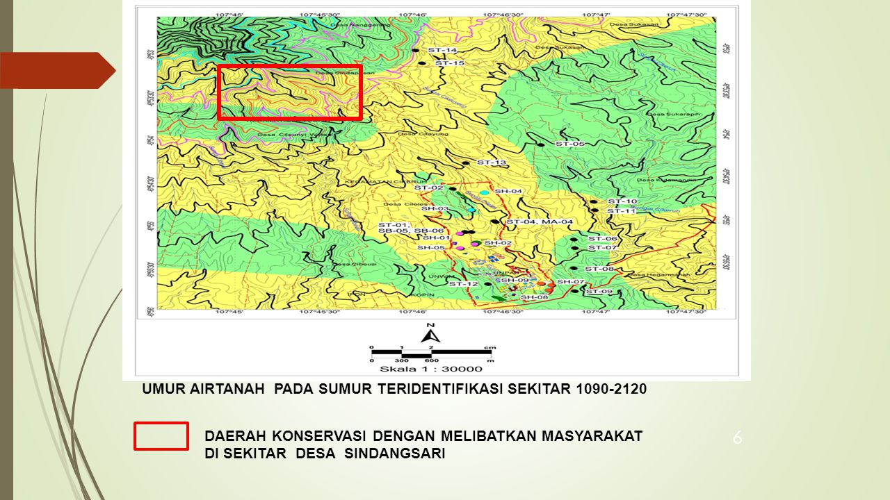CONSERVATION ZONE NOZONALUAS HaSUBDASRECHARGE JUMLAH PENDUDUK 1 SD-01A269.84SD-01Runoff210 2 SD-01B98.97SD-01Upper Buffer1.599 3 SD-01C173.09SD-01Recharge3.354 4 SD-01D256.69SD-01Lower Buffer6.200 5 SD-01E433.72SD-01Discharge11.421 6 SD-02C1.98SD-02Recharge69 7 SD-02D77.63SD-02Lower Buffer1.651 8 SD-02E329.42SD-02Discharge7.044 9 SD-03A718.43SD-03Runoff- 10 SD-03B195.48SD-03Upper Buffer439 11 SD-03C268.73SD-03Recharge1.768 12 SD-03D315.34SD-03Lower Buffer4.015 13 SD-03E626.33SD-03Discharge Zone20.610