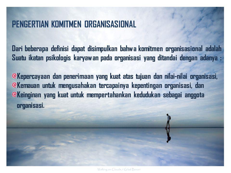Bentuk Komitmen Organisasional