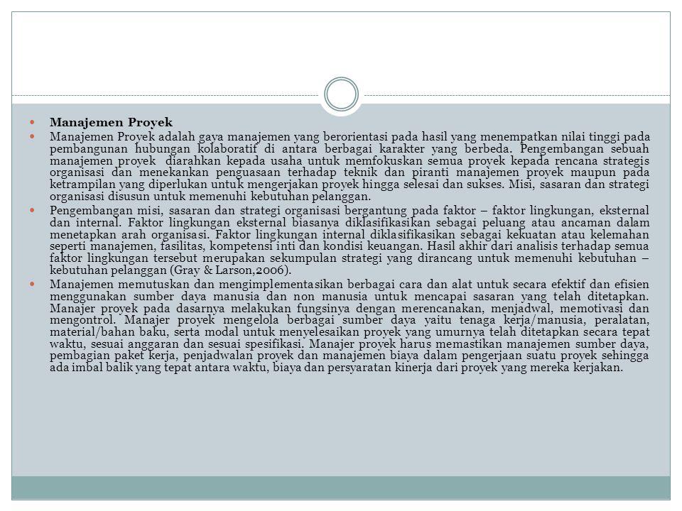Form Breakdown Proyek Gambar 5 adalah form untuk melakukan breakdown proyek dari order proyek yang sedang dikerjakan oleh CV.