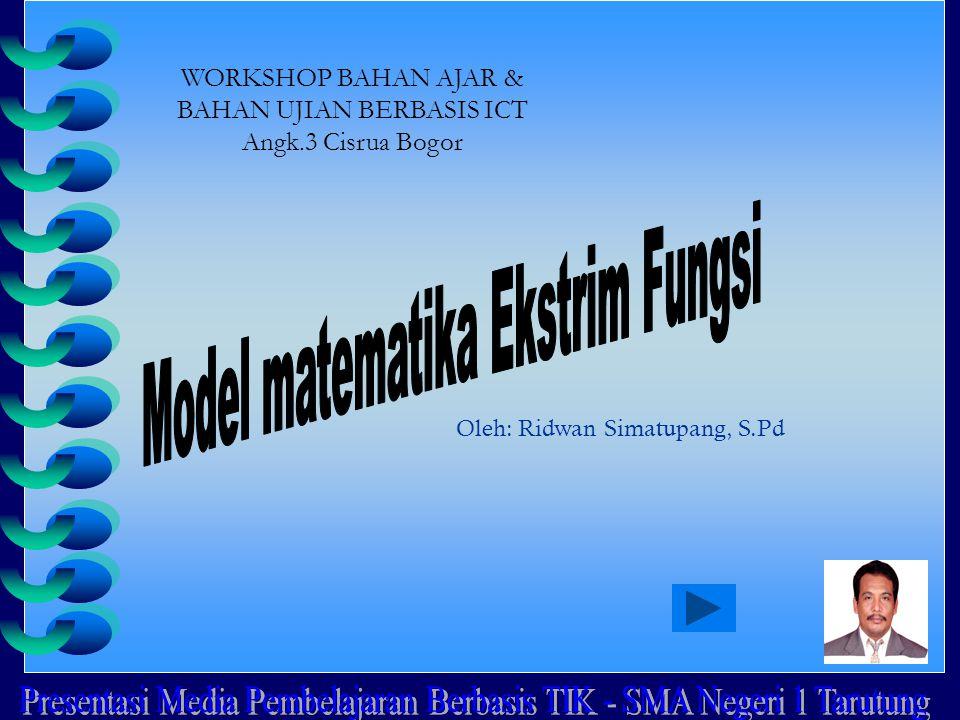 Oleh: Ridwan Simatupang, S.Pd WORKSHOP BAHAN AJAR & BAHAN UJIAN BERBASIS ICT Angk.3 Cisrua Bogor