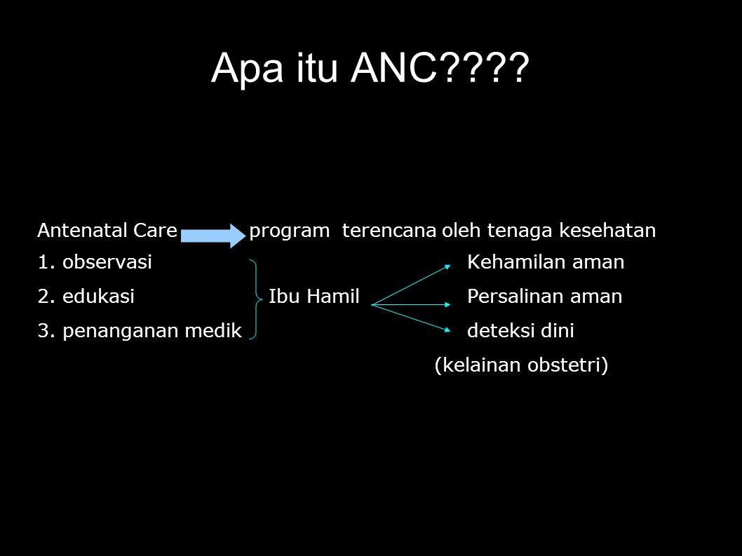 Saran Tenaga kesehatan dapat memberikan antenatal care sesuai dengan standar pelayanan antenatal.
