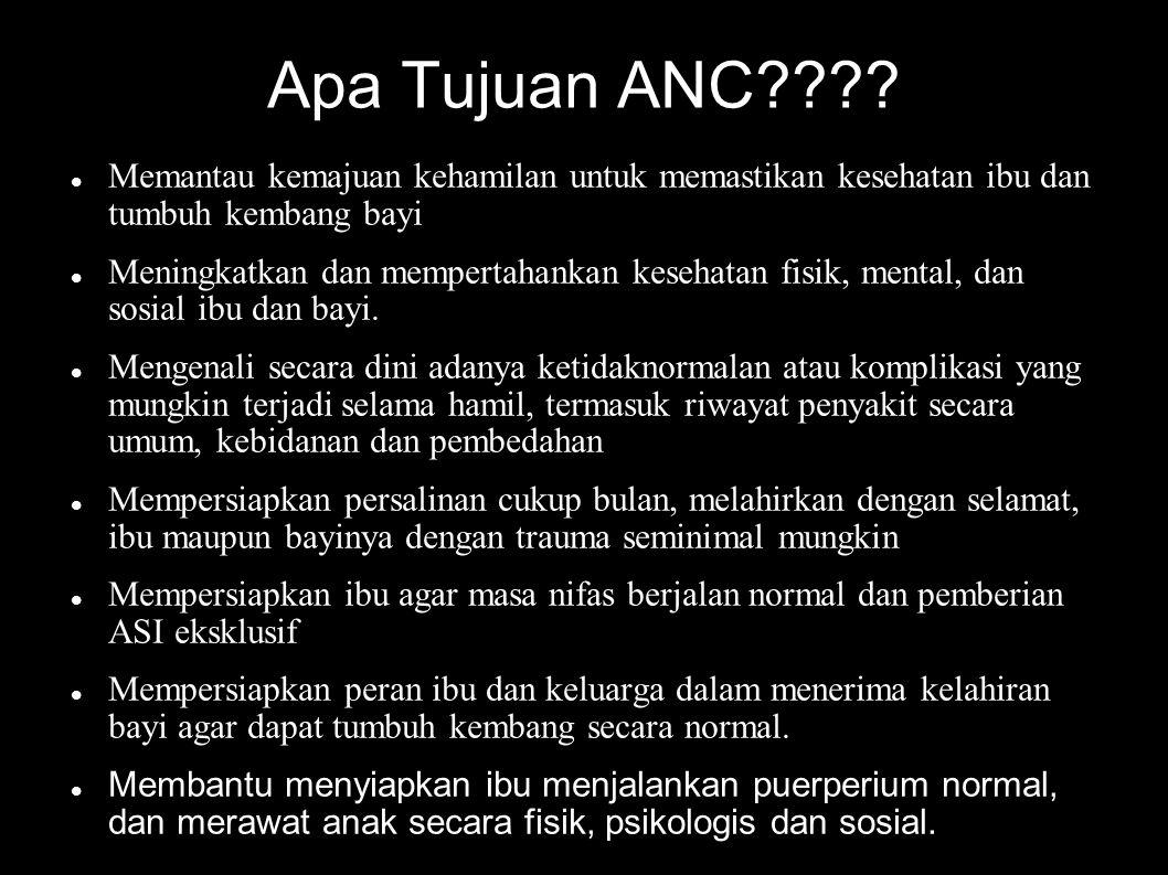 Bagaimana Pelaksanaan ANC??? Pemeriksaan dan pengkajian ANC Pendidikan ANC