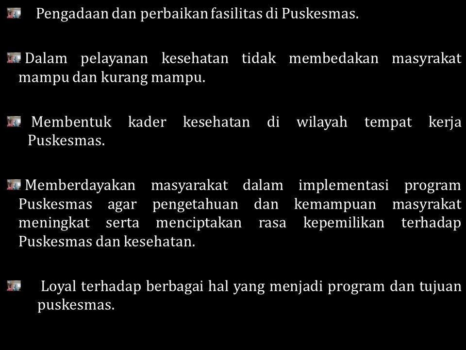 Jamkesmas Program bantuan sosial untuk pelayanan bagi masyarakat miskin dan tidak mampu.