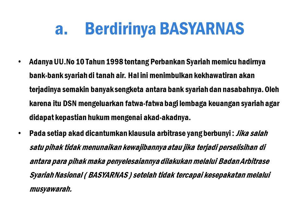 BASYARNAS Oleh : Ratmawati 20100730032 Ekonomi dan Perbankan Islam Universitas Muhammadiyah Yogyakarta