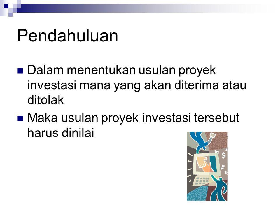 Contoh kasus Arus kas Sama Sutau perusahaan mempertimbangkan usulan proyek investasi sebesar Rp.
