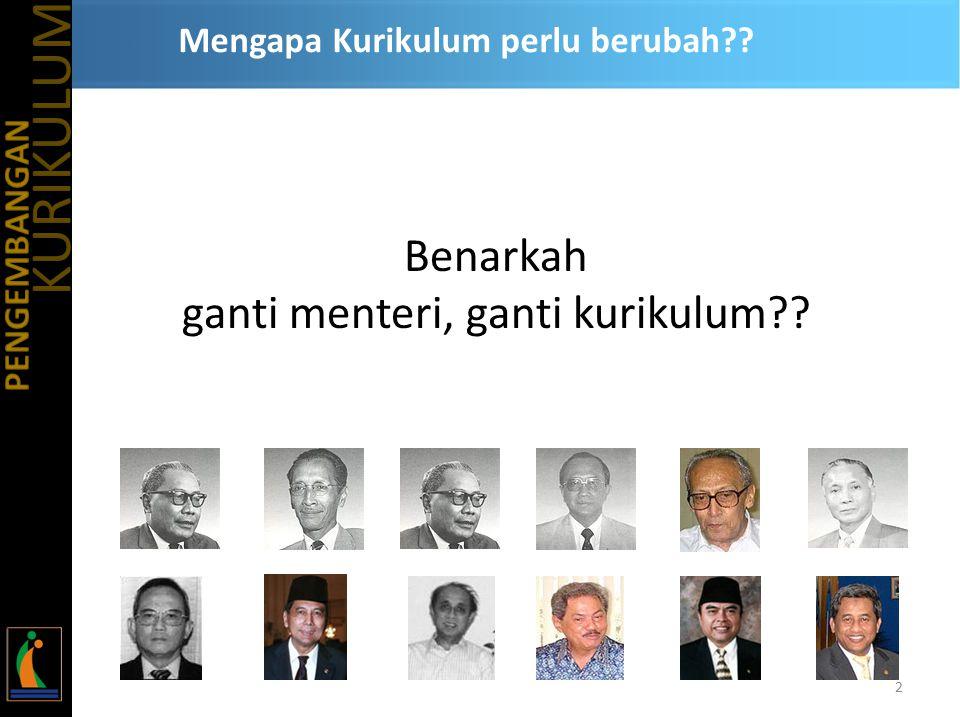 Mengapa Kurikulum perlu berubah?? Benarkah ganti menteri, ganti kurikulum?? 2