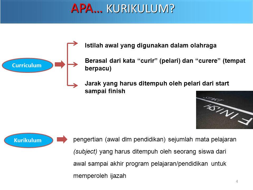pengertian (awal dlm pendidikan) sejumlah mata pelajaran (subject) yang harus ditempuh oleh seorang siswa dari awal sampai akhir program pelajaran/pen