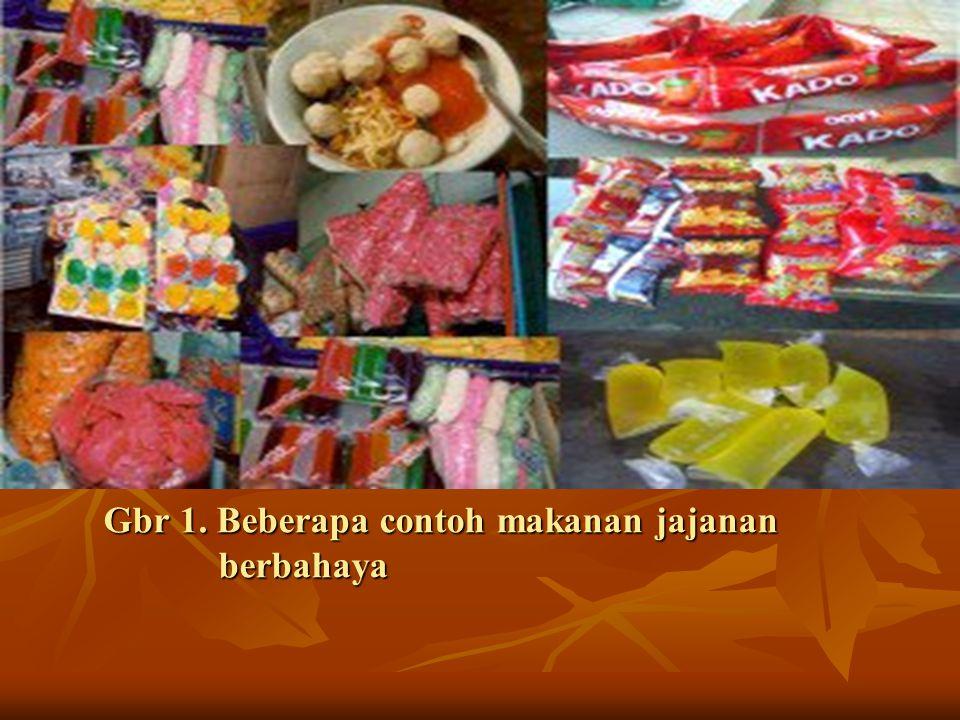 Gbr 1. Beberapa contoh makanan jajanan berbahaya Gbr 1. Beberapa contoh makanan jajanan berbahaya