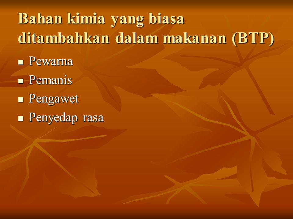 Contoh Bahan Tambahan Pangan (BTP) 1.