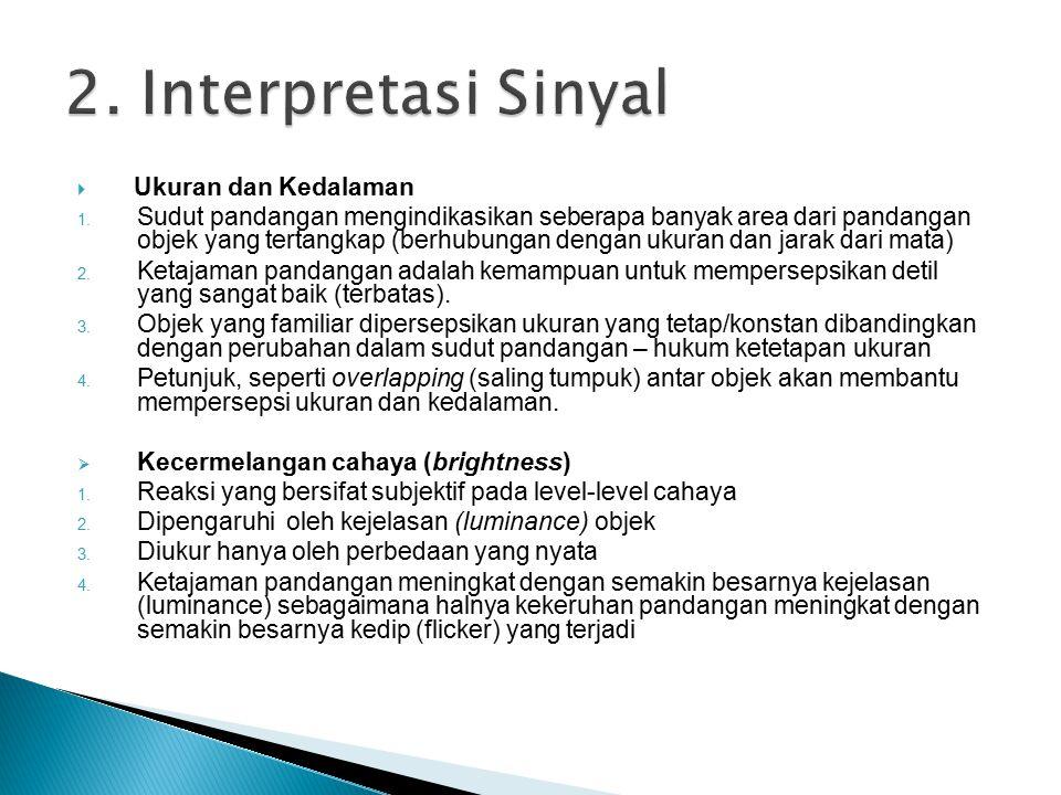  Warna 1.Terbentuk dari hue (corak), intensity (intensitas), saturation (kejenuhan) 2.
