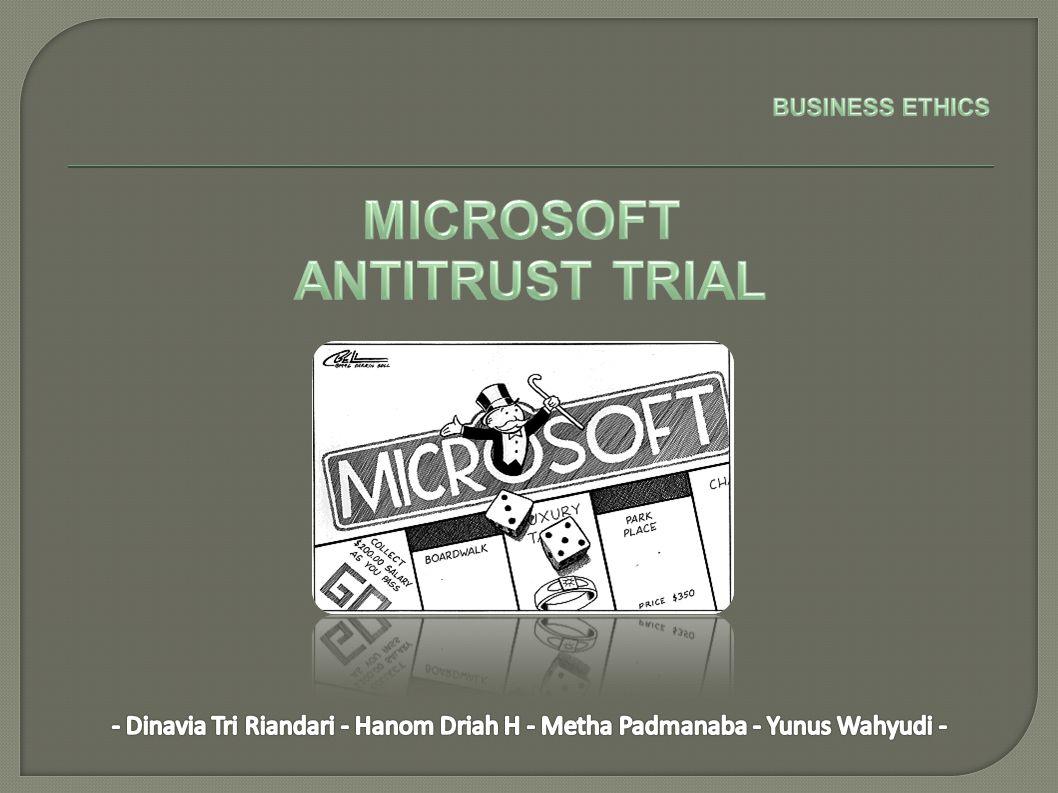 Apakah pemerintah perlu menuntut Microsoft karena melakukan pelanggaran undang- undang antimonopoli.