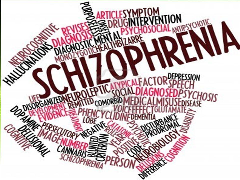Definisi Istilah Skizoprenia diciptakan oleh Bleuler (psikiater dari Swiss) dari bahasa Yunani : skhizo = split / membelah phren = mind / pikiran terbelahnya / terpisahnya antara emosi dan pikiran / intelektual Merupakan penyakit psikiatrik kronik pada pikiran manusia mempengaruhi seseorang sehingga mengganggu hubungan antarpersonal dan kemampuan untuk menjalani kehidupan sosial