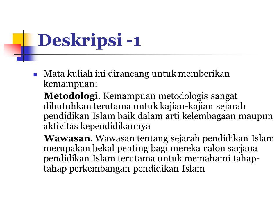 Deskripsi -1 Mata kuliah ini dirancang untuk memberikan kemampuan: Metodologi.