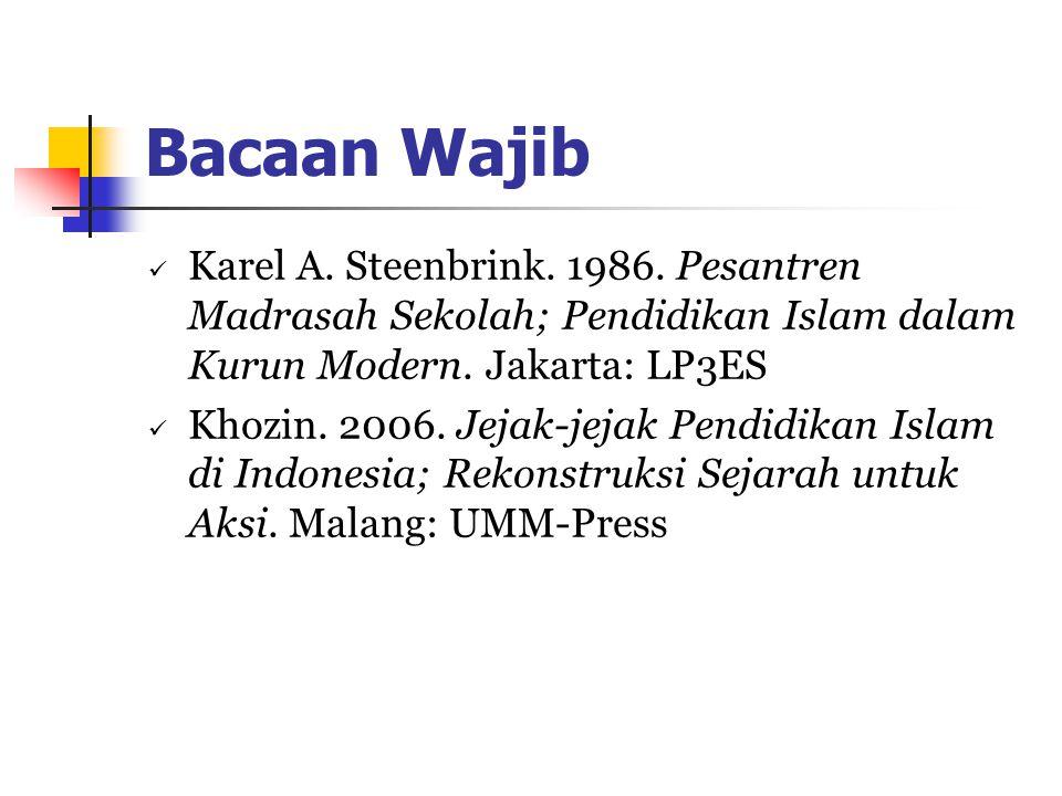 Bacaan Wajib Karel A.Steenbrink. 1986.