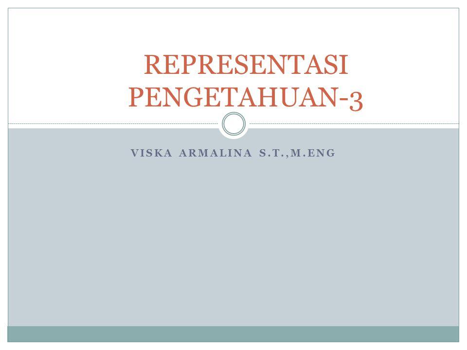 VISKA ARMALINA S.T.,M.ENG REPRESENTASI PENGETAHUAN-3