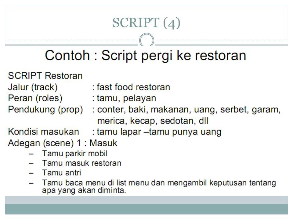 SCRIPT (5) – lanjutan contoh script