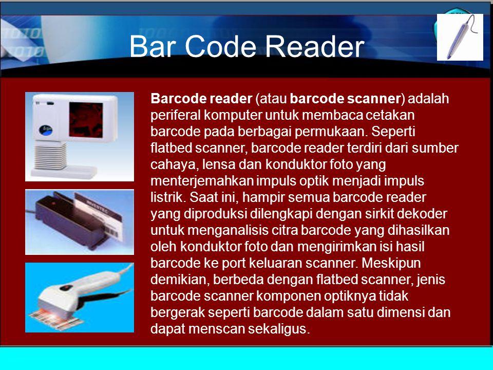 Scanner Scanners dapat dibedakan melalui: teknologi scanning : menggunakan matriks charge-coupled device (CCD)  resolusi: Lebih rapat bit map, lebih tinggi resolusinya.