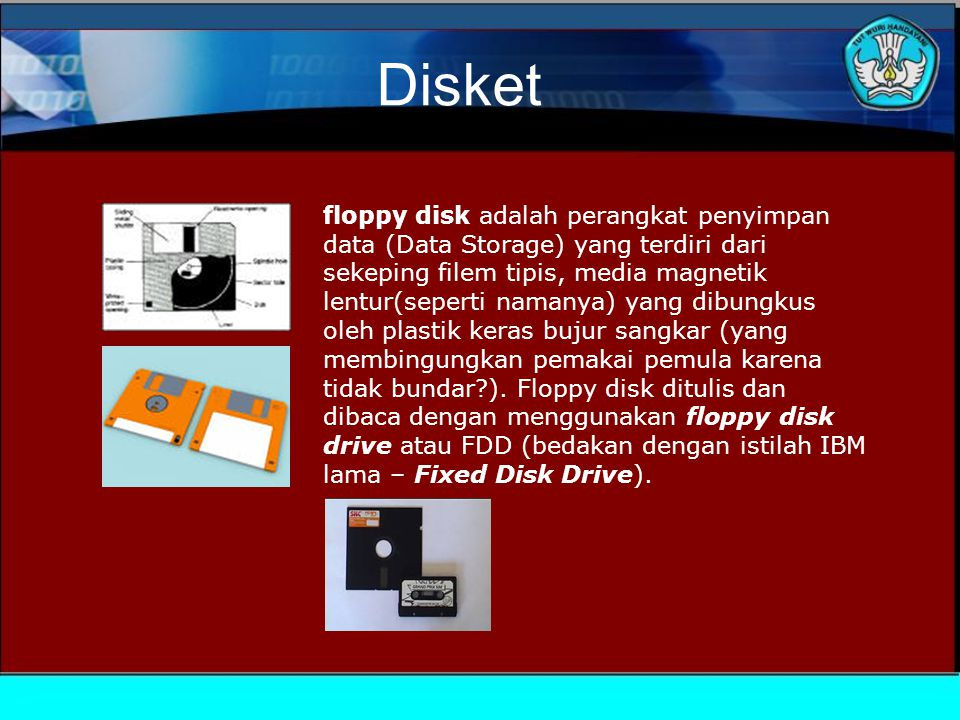 Hardisk Penggerak hard disk di lingkungan komputasi dikenal sebagai jenis perangkat yang dibuat dari lempengan logam beroksida, sebuah sumbu, read dan write head, read dan write arm, motor listrik, dan IC di dalam satu kemasan.