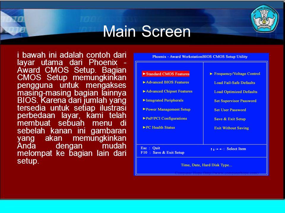 DEFINISI Basic Input Output System atau sering disebut BIOS merupakan firmware.