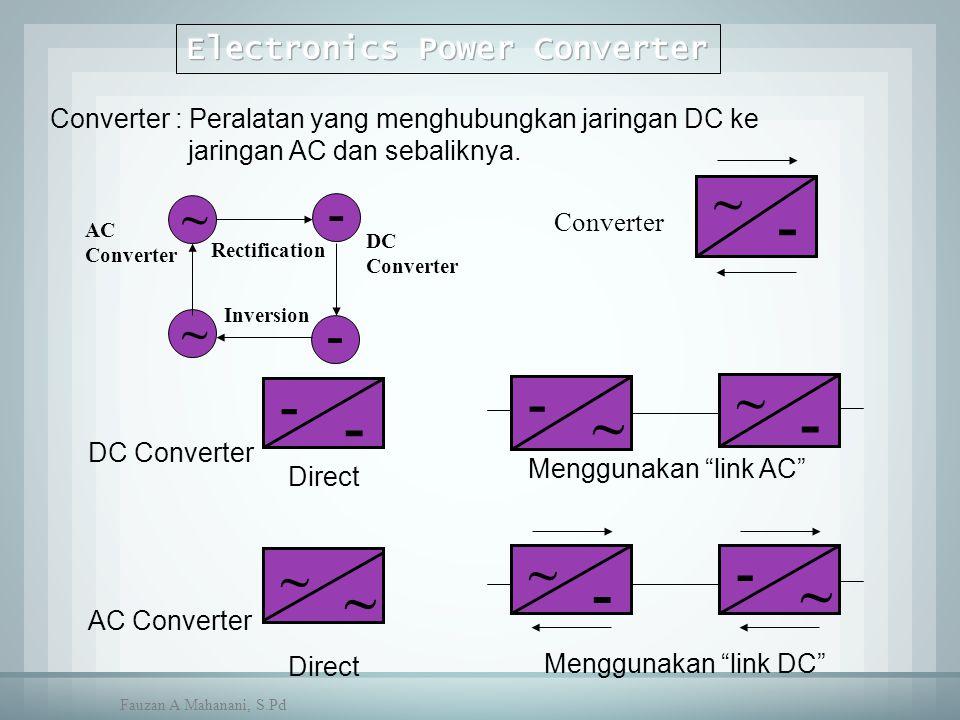 """~ ~ - - ~ - - - - ~ ~ - ~ ~ ~ - - ~ Direct Menggunakan """"link AC"""" Menggunakan """"link DC"""" DC Converter AC Converter Converter DC Converter AC Converter R"""